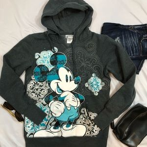 Disney Parks Authentic Mickey Hoodie Womens M A33